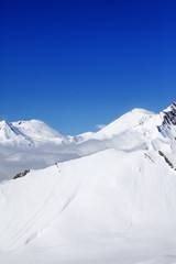 Winter snowy mountains in nice day