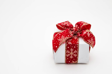 Closeup of cute small gift box