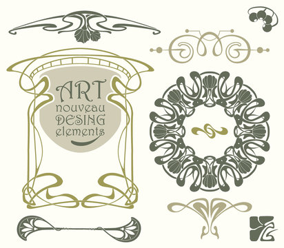 Art nouveau desing elements