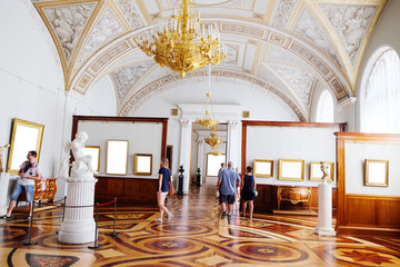 SAINT-PETERSBURG, RUSSIA -AUGUST 10: Interior of  Hermitage,