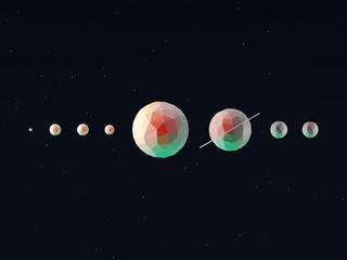 Geometric 3d Solar System