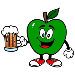 Green Apple with Beer