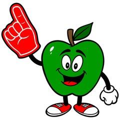 Green Apple with Foam Finger