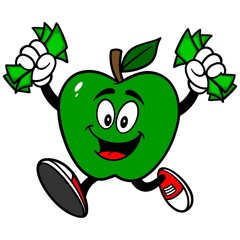 Green Apple with Money