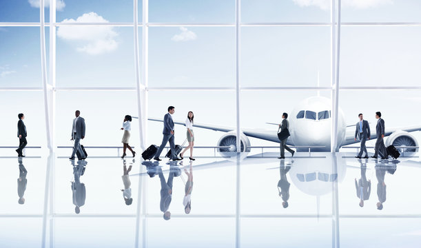 Airport Travel Business People Trip Transportation Concept