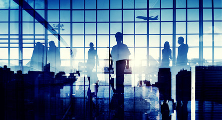 Business People Travel Corporate Airport