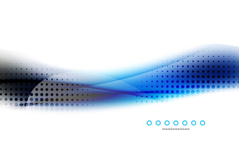 Abstract background, blue wave business template