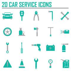 Vector black car service set