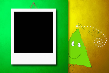 Christmas cards photo frames cute tree