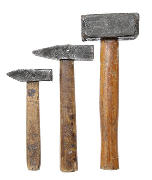 hammers big large medium small wooden handle working vintage iso