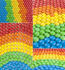Colorful Chocolate Candy collage