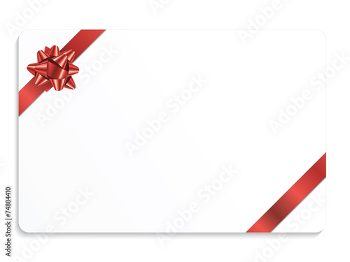 Vector christmas gift card with ribbon stock image and royalty vector christmas gift card with ribbon stock image and royalty free vector files on fotolia pic 92165207 negle Images