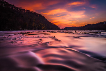 Long exposure on the Shenandoah River at sunset, from Harper's F