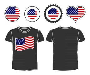 t-shirt with USA flag
