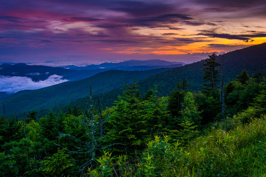Sunset from Clingman's Dome, Great Smoky Mountains National Park