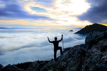 sis bulutlarının zirvesinde olmak