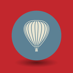Hot air balloon symbol, vector