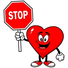 Heart with Stop Sign