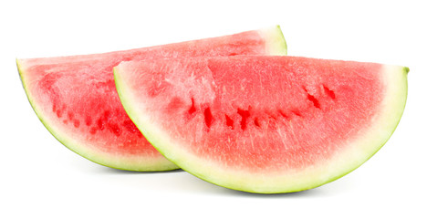 Juicy watermelon isolated on white