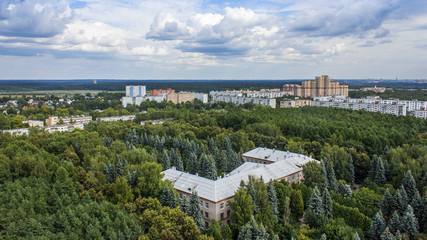 Pushkino, Russia. A view of the city from a high point