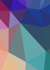 Triangle background. Colorful polygons. Abstract background in r