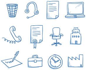 Icon set business office & communication