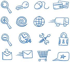 Icon set internet & shopping