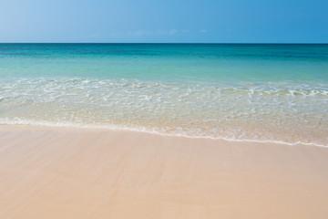 Clear water in Chaves beach Praia de Chaves in Boavista Cape Ve