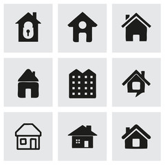 Vector house icons set