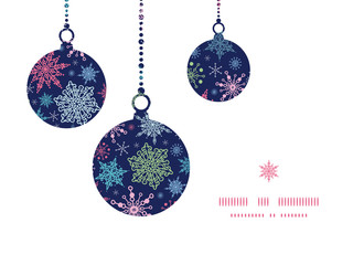 Vector snowflakes on night sky Christmas snowflake silhouette