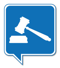 Logo marteau justice.