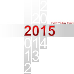 Happy New Year 2015 simple red