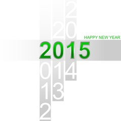 Happy New Year 2015 simple green