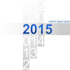 Happy New Year 2015 simple blue