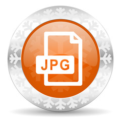 jpg file orange icon, christmas button