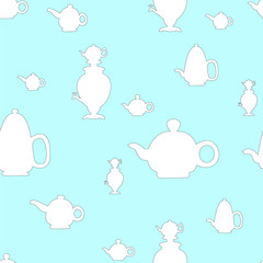 kettle seamless. vector illustration