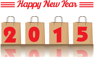 2015 annual year vector. Happy new year.