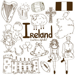 Collection of Irish icons
