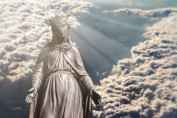 Virgin Mary in Clouds