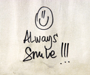 always smile text