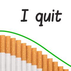 Quit smoking text graph cigarettes