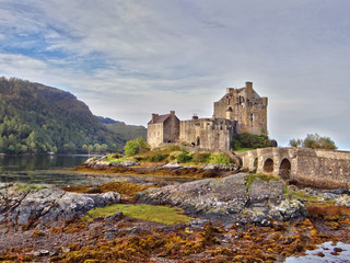 Eilean Donan castle in the Kintail district of Scotland