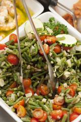 green beans tomatoes zuchini salad