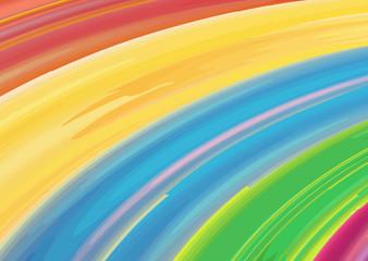 Watercolor rainbow vector background