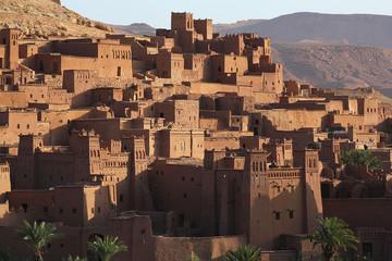 Kasbah de Aït Benhaddou, fortified town of adobe, Ouarzazate.