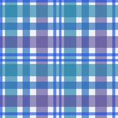Seamless retro textile blue checkered texture plaid pattern back