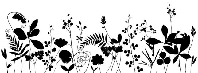 Summer Meadow Silhouette