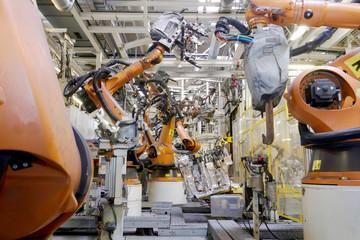 Schweissroboter Autoproduktion Automotive
