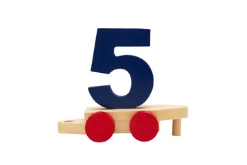 The car from the children's train with number five