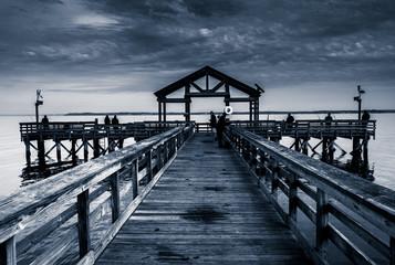 Fishing pier in the Potomac River, at Leesylvania State Park, Vi